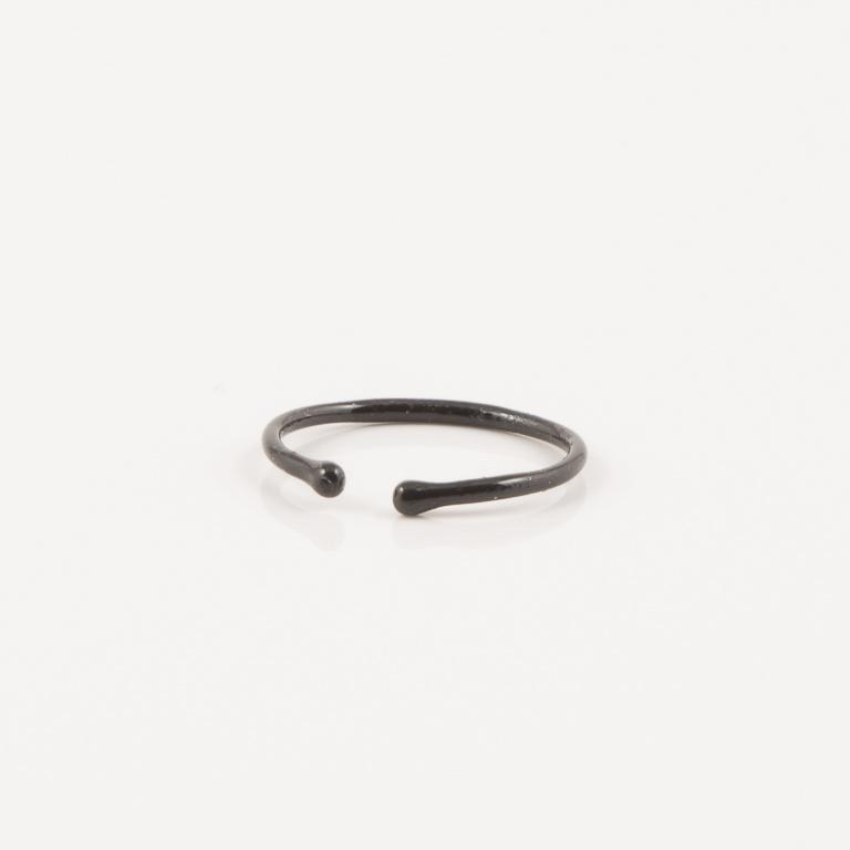 Σκουλαρίκι Ασήμι 925 Χωρίς Τρύπα Μαύρο ef0fa2a91e9