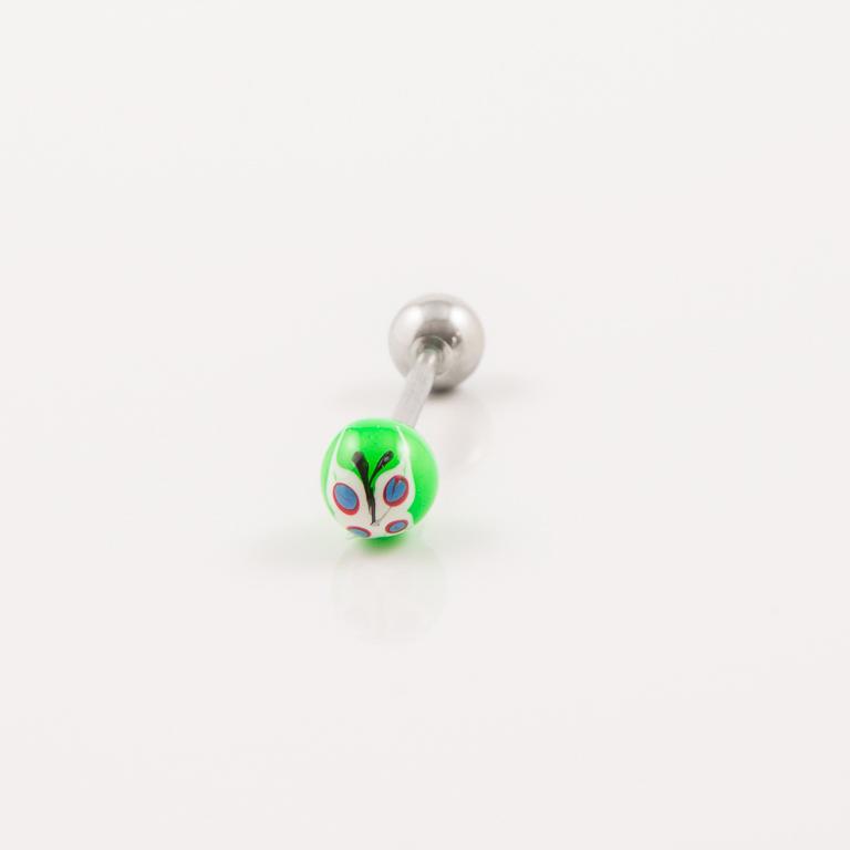 b51687a640 Μπάρα Γλώσσας Πεταλούδα Λευκό-Πράσινο