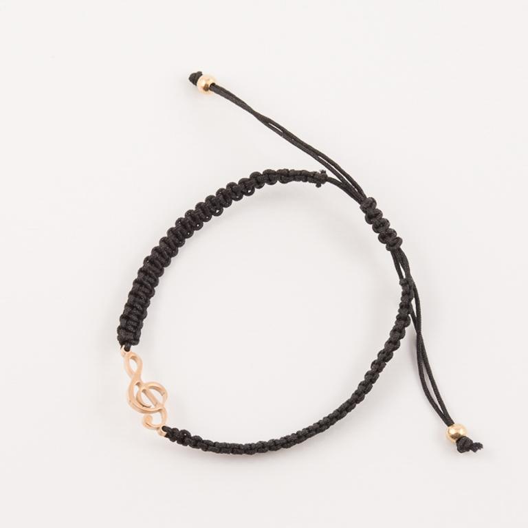 Βραχιόλι Μαύρο Ατσάλινο Κλειδί του Σολ 6b743a0269e