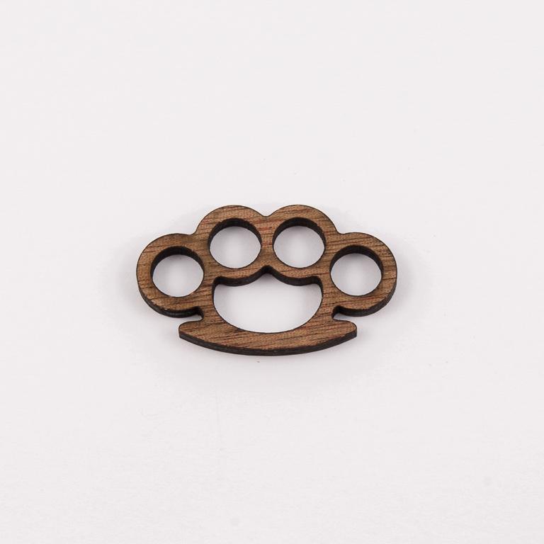 Wooden Decorative Brass Knuckles