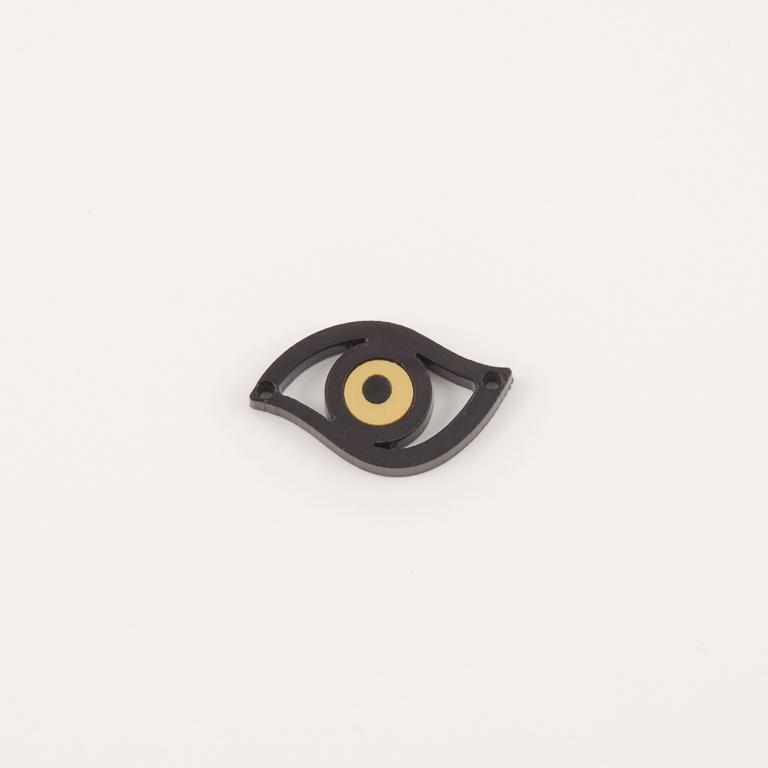 Μάτι Plexiglass Περίγραμμα Μαύρο-Χρυσό 62e01f7ba1e