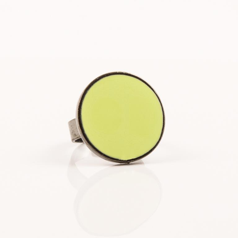 Στρογγυλό Δαχτυλίδι Κίτρινο Σμάλτο 53670b23fbd