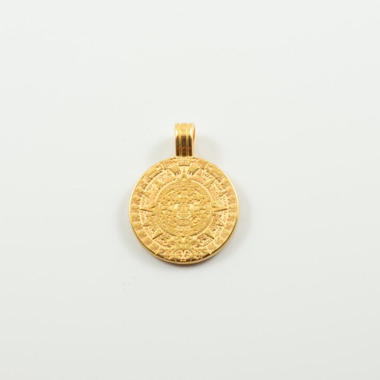 Μενταγιόν Ήλιος της Βεργίνας Χρυσό 1f104191f94