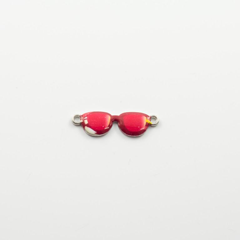 1b517ce087 Μεταλλικό Μοτίφ Γυαλιά Ηλίου Κόκκινο