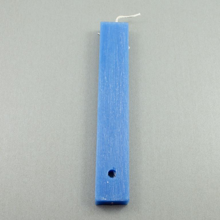 Candle Blue Flat 20cm