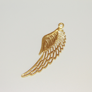 Gold Plated Metallic Wing (8x3.5cm)