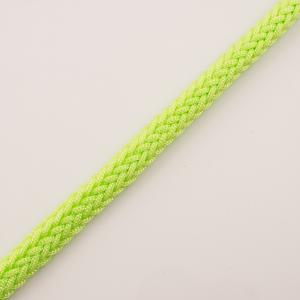 Knitted Cord Light Green Fluo 12mm