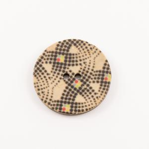 "Coconut Button ""Dots"" 2.8cm"