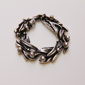 Metallic Wreath Silver (5x5cm)