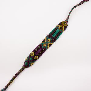 Bracelet Ethnik Purple-Teal