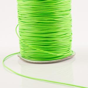Waxed Linen Cord Light Green (1mm)