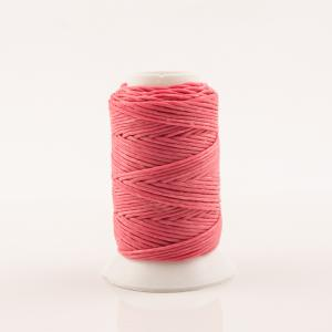 Waxed Cotton Cord Bright Pink  30m