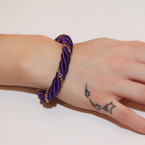 Bracelet Twisted Cord Purple