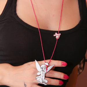Necklace Tinker Bell Fuchsia