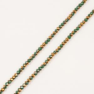 Polygonal Beads Green-Copper 6mm