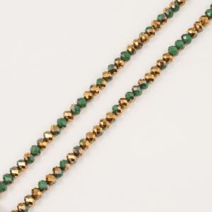 Polygonal Beads Green-Copper 8mm