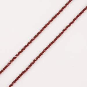Polygonal Beads Red 3mm
