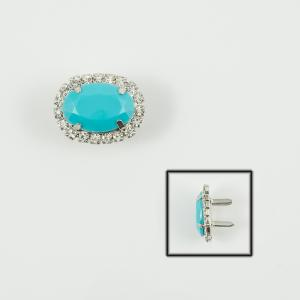 Oval Crystal Turquoise 3.2x2.6cm