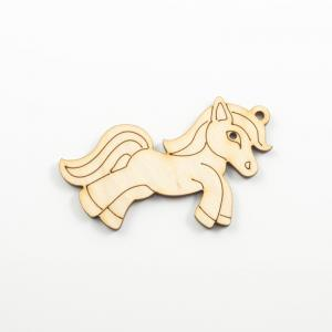 Wooden Pendant Pony Natural