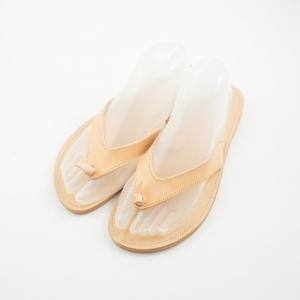 Leather Flip Flops Knot Νatural