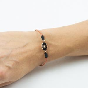 Bracelet Eye Enamel Black