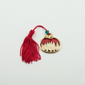 Charm 2019 Trees Enamel Red Tassel