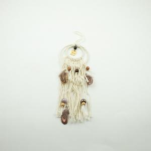 "Charm ""19"" Dream Catcher Brown-Pink"