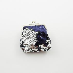 Wallet Tinsel Blue-Silver