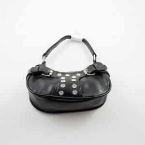 Bag Leatherette Black 19x10cm