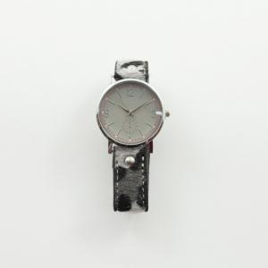 Watch Leatherette Leopard Gray