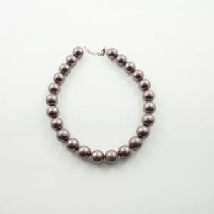 Necklace Pearls Purple