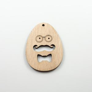 Wooden Motif Egg Man