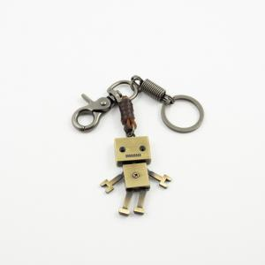 Key Ring Robot Bronze