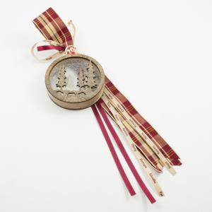 Charm Wooden 3D Bauble Firs