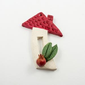 Ceramic House Red Pomegranate