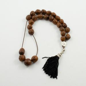 Worry Beads Nutmeg Brown Oval