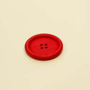 Wooden Button Red (3.5cm)