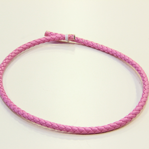 "Leather ""Knitted"" Pink (8mm)"