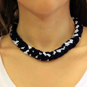 Necklace Cotton Braid Black