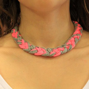 Necklace with Braid from Cotton