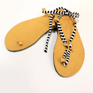 Leather Flip Flops with Loops