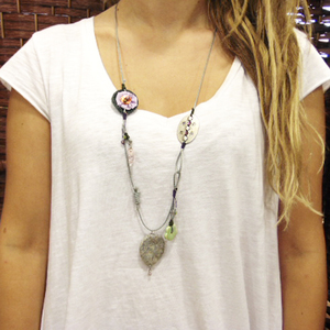 "Necklace ""Gray Pebble"""
