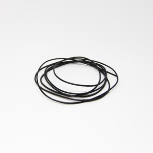 "Leather ""Round"" Black (1mm)"