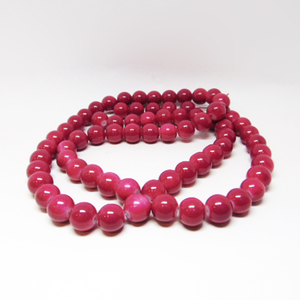 "Glass Beads ""Fuchsia"" 12mm"
