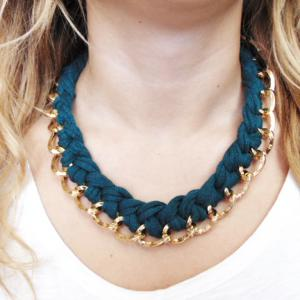 Necklace Chain Cypress Green Cotton