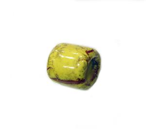 Ceramic Bead Yellow (2x1.5cm)