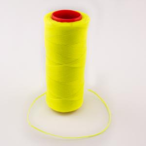 Waxed Cotton Cord Yellow Fluo 100m