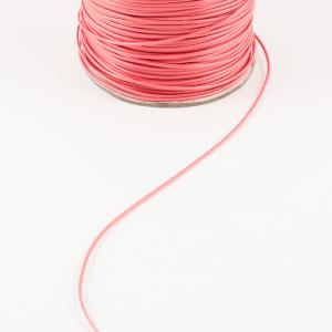 Waxed Linnen Cord Coral (1mm)