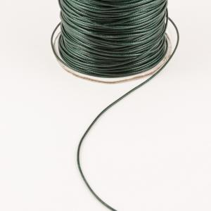Waxed Linnen Cord Cypress Green (1mm)