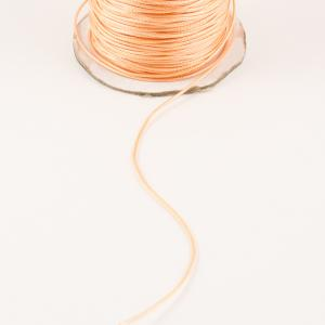 Waxed Linnen Cord Salmon (1mm)